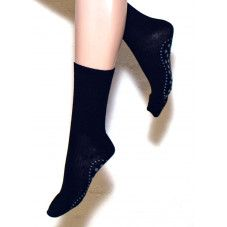 Ulla Black Wool Non-slip Socks
